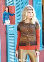 Sirdar Giselle Aran - 9890 Childrens and Ladies Long and Short Sleeved Cardigans Knitting Pattern